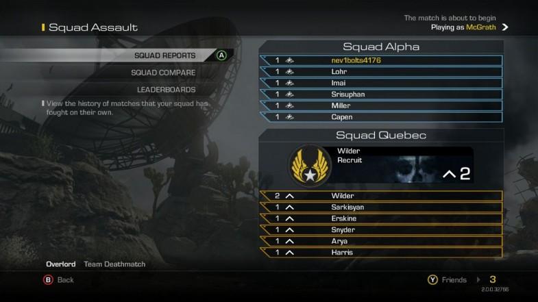 Squad Lobby